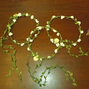 PIXI FAIRY HEADBAND WITH FLORAL AND LEAF TAIL